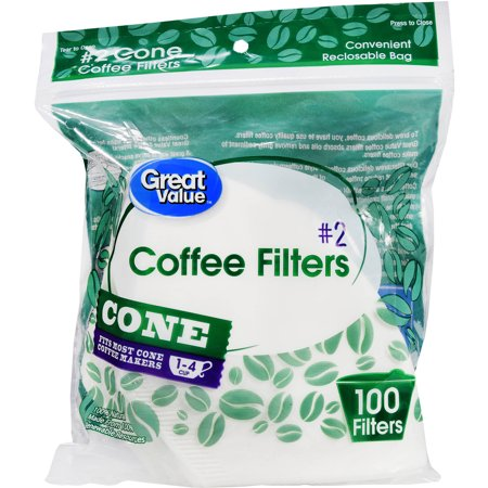 (8 Pack) Great Value Cone Coffee Filters, #2, 1-4 cup, 100 Count (Coffee Filter Holder 2)