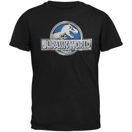 Jurassic World Men's  Basic Logo T-shirt Black
