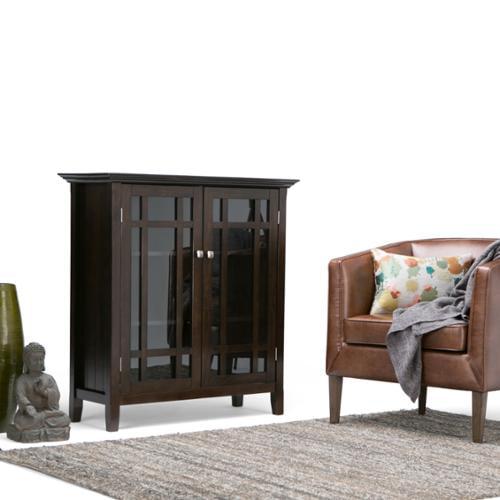 WyndenHall Freemont Dark Tobacco Brown Medium Storage Media Cabinet  Buffet by Overstock