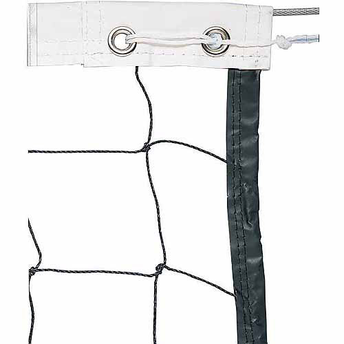 Vinyl Volleyball Net with Steel Cable Top and Nylon Roped Bottom