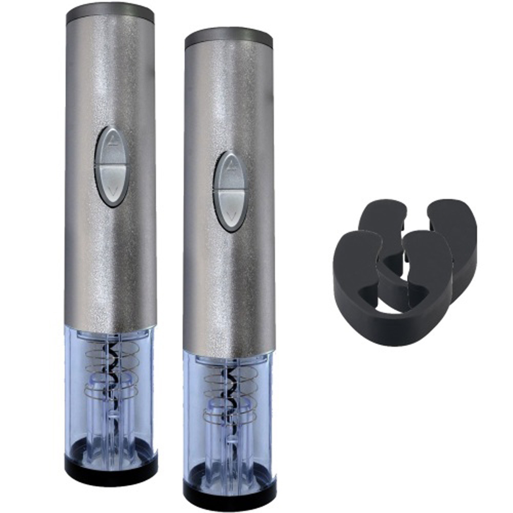 Hashub Goods 2 Electric Wine Bottle Openers with Foil Cutters Bundle - Includes 2 Openers with Foil Cutters