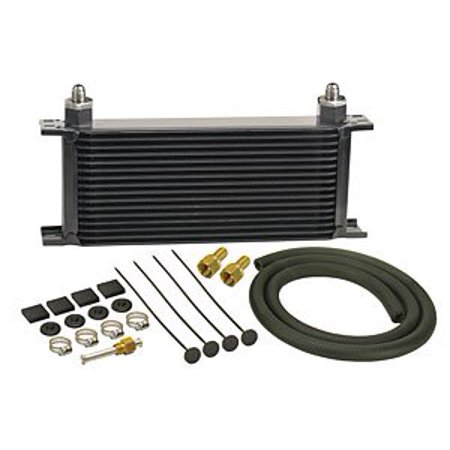 Derale 13402 16 Row Stacked Plate Transmission Cooler Kit