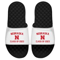 Nebraska Cornhuskers ISlide Class of 2023 Slide Sandals - White
