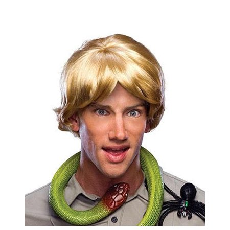 Steve Irwin Crocodile Hunter Animal Hunter Mens Blonde Wig - Blond Ponytail Wig