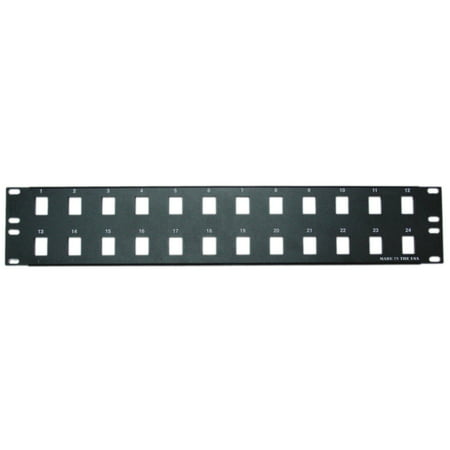 ACCL 2 Unit Rackmount 24 Port Blank Keystone Patch Panel, 1pk