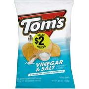 Tom's Potato Chips, Vinegar & Salt, 5.5 Oz