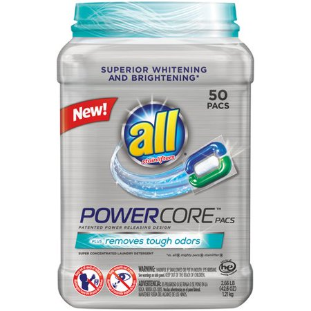All   Powercore    Pacs Laundry Detergent 50 Ct Tub