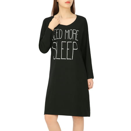 HDE Women's Sleep Shirt Dress Long Sleeve Nightgown Pajama Oversized Nightshirt](Long Stripper Gowns)