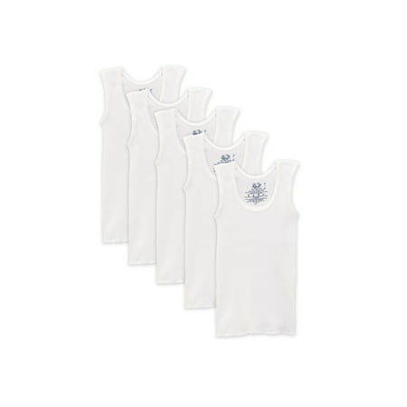 (Classic White Tank Undershirts, 5 Pack (Toddler Boy))