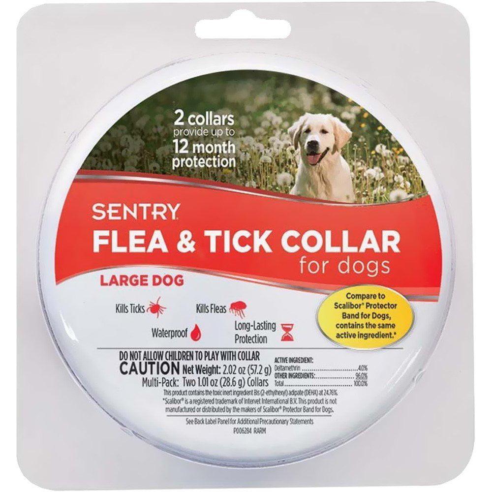 Sentry Long Lasting Flea and Tick Dog Collar Waterproof Long-Lasting Large 2 count
