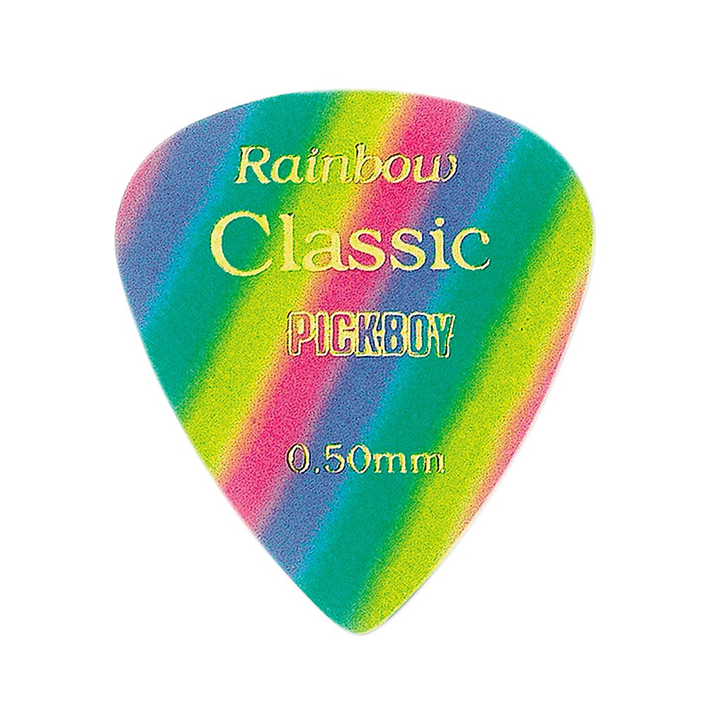 Pick Boy Vintage Pick Celluloid Rainbow (10-pack) .50 mm