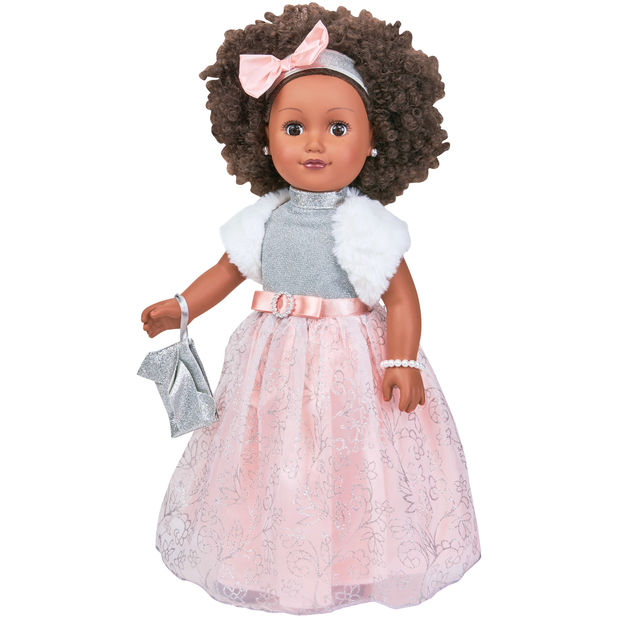 "My Life As 18"" Poseable African American Winter Princess Doll, Black Hair with a Soft Torso"