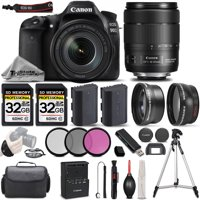 Canon EOS 90D Wi-Fi Full HD 4K30p  Digital SLR Camera + Canon 18-135mm IS USM Lens + .43x Wide Angle Lens + 2.2X Telephoto Lens . All Original Accessories Included