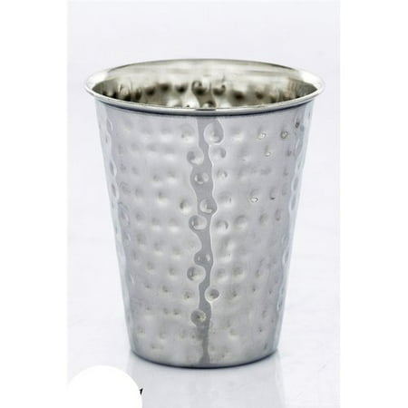 Ben and Jonah Stainless Steel Hammered Kiddush Cup