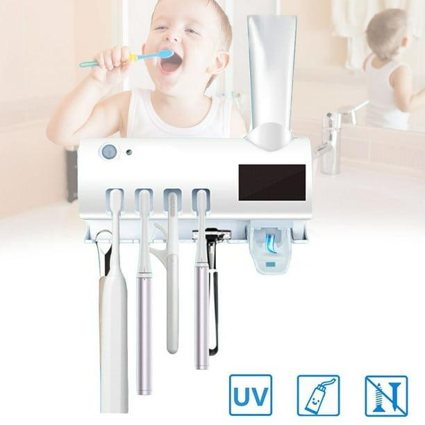 2in1 UV Toothbrush Sterilizer Holder Automatic Toothpaste Squeezer Dispenser