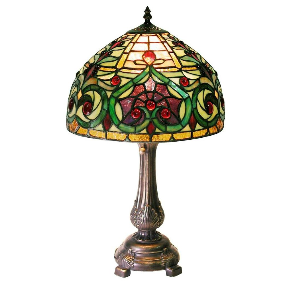 Warehouse of Tiffany 1669 MB163 Tiffany style Jeweled Petite Table Lamp, Green   Walmart.com ...