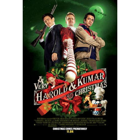 A Very Harold And Kumar Christmas Movie mini poster 11x17 in Mail/storage/gift