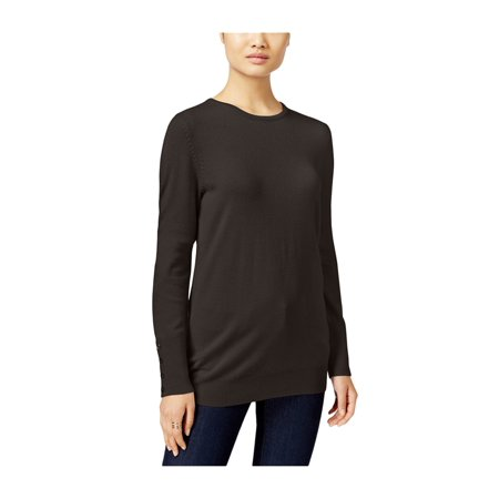 JM Collection Womens Button-Cuff Knit Sweater