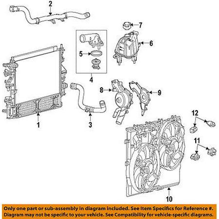 Ram CHRYSLER OEM-Radiator Coolant Overflow Tank Recovery Bottle 52014880AA