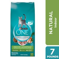 Purina ONE Hairball Weight Control Indoor Natural Dry Cat Food Indoor Advantage 7 lb. Bag
