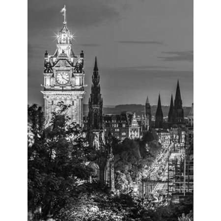 Princess Streen And The Balmoral Hotel And Night Edinbrugh Scotland Poster Print By  Assaf Frank