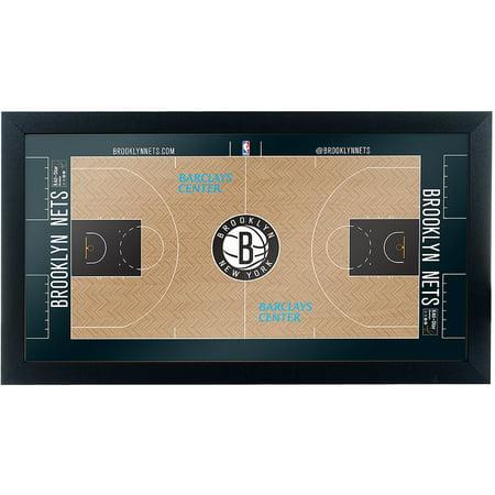 Brooklyn Nets Official NBA Court Framed Plaque
