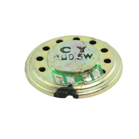 - Unique Bargains 20mm Round Aluminum Shell Magnetic Type Slim Speaker Horn 8 Ohm 0.5W