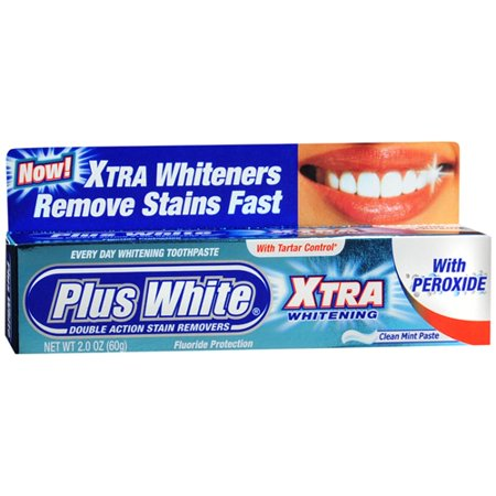 Plus White Whitening Xtra Dentifrice Avec 2 Oz un peroxyde, Pack 2