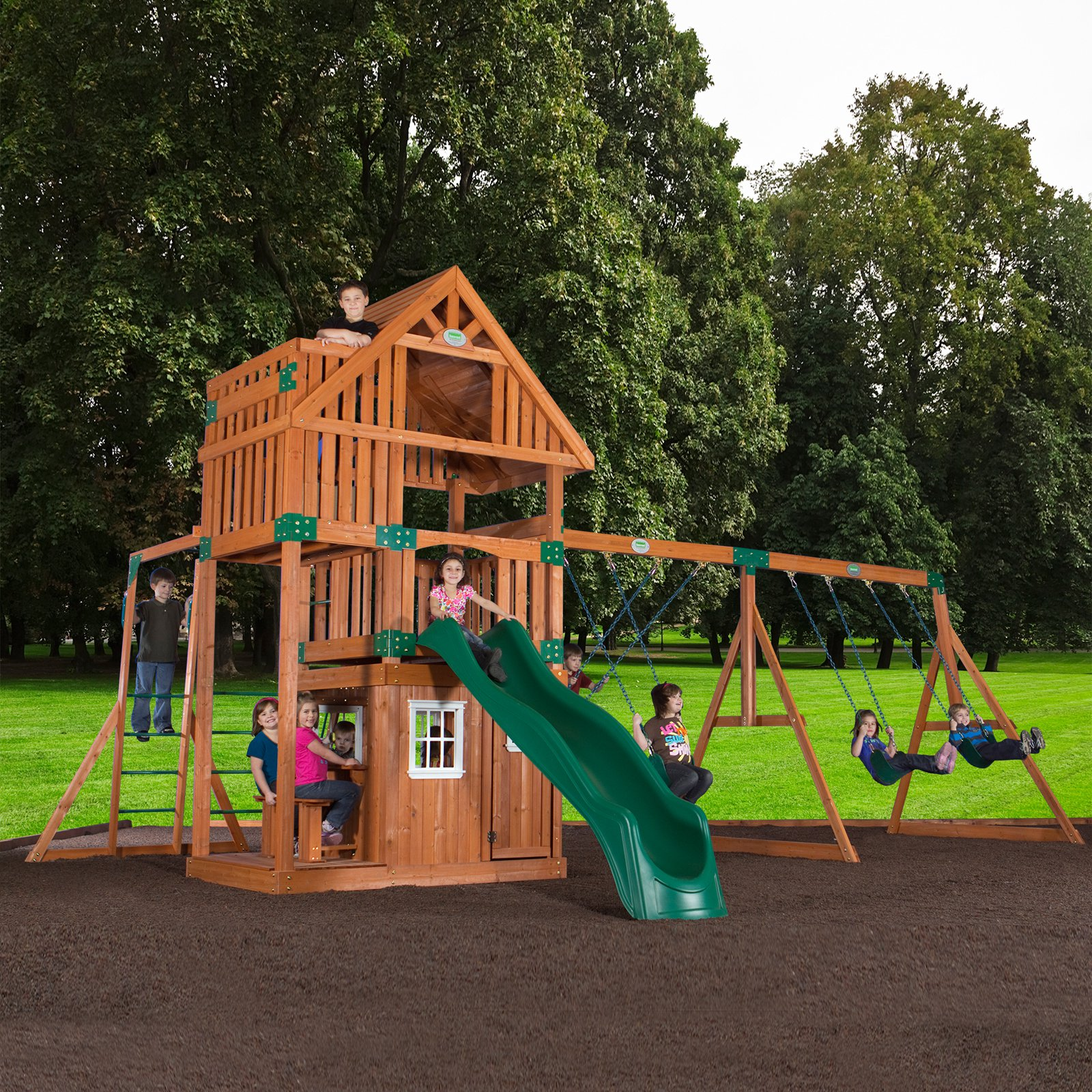 Backyard Odyssey Wanderer All Cedar Swingset