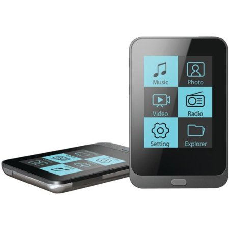 coby mp3 video player lcd 8gb flash fm touch screen control black. Black Bedroom Furniture Sets. Home Design Ideas