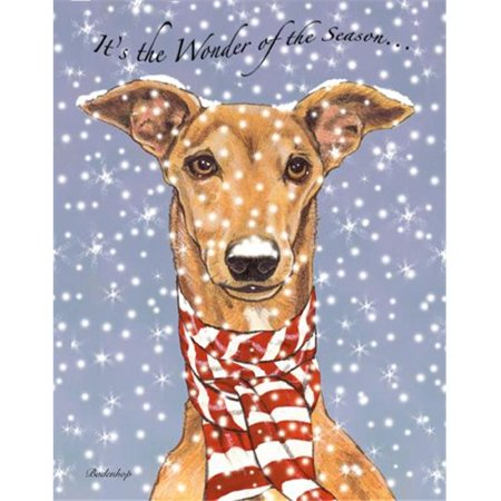 Pipsqueak Productions C531 Greyhound Holiday Boxed Cards
