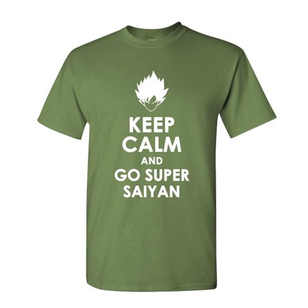 KEEP CALM AND GO SUPER SAIYAN goku vegeta - Cotton Unisex T-Shirt ()