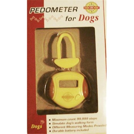 Good Life Gear P5535 YLW-GLD Pedometer counts steps - calibrates to dog size