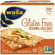 Wasa Gluten Free Sesame and Sea Salt Swedish Crispbread 6.1 oz