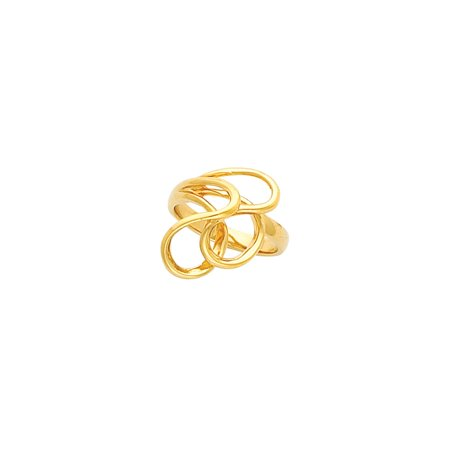 14K Yellow Gold Freeform Bypass Ring