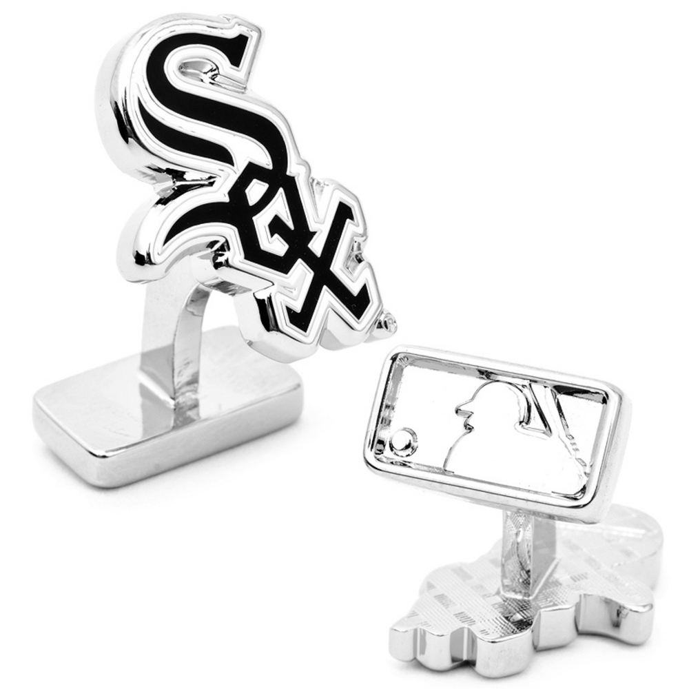 Sterling Silver Chicago White Sox Cufflinks