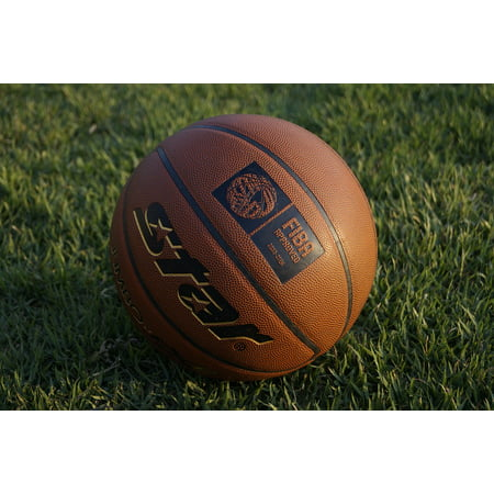 LAMINATED POSTER Basketball Ball Ball Glow Basketball In The Evening Poster Print 24 x