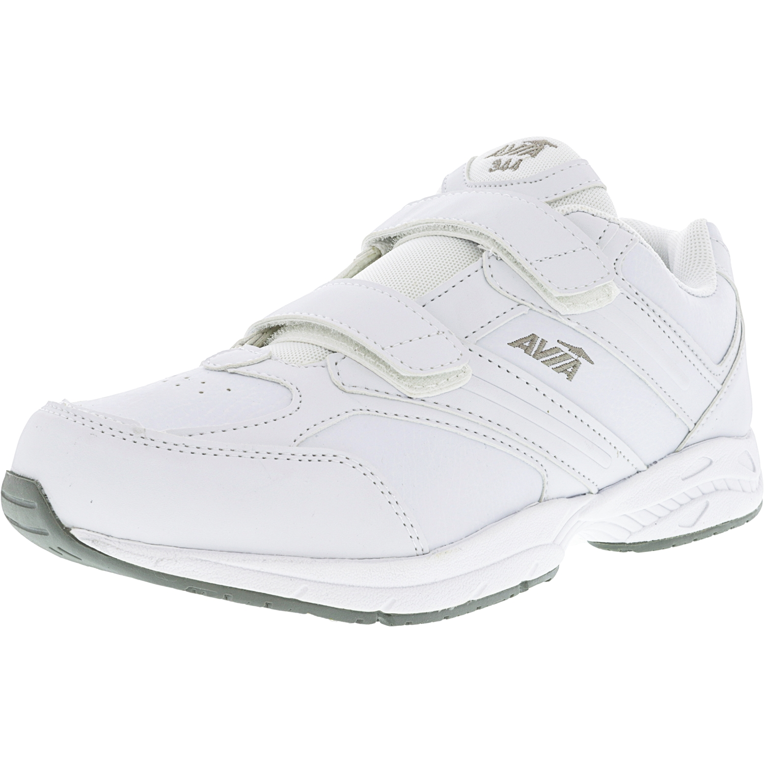 Avia Men's A344 White   Chrome Silver Lemon Yellow Ankle-High Walking Shoe 10.5WW by Avia