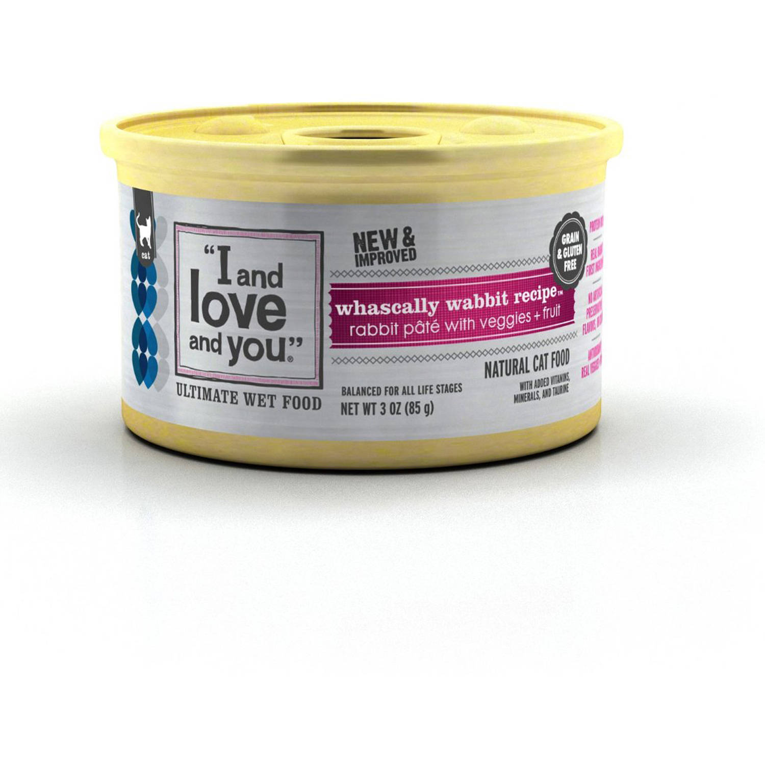 I And Love And You Whascally Wabbit Recipe, Rabbit Pate with Veggies and Fruit, Cat Food, 3 oz, 24-Pack