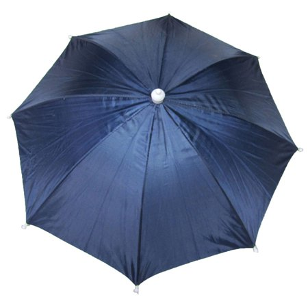 Unique Bargains Fishing Camping Adjustable Umbrella Hat Navy Blue New (Fishing Umbrella Hat)