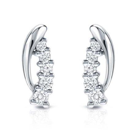Auriya  14K White Gold 1 4Ct Tdw 5 Stone Diamond Earrings