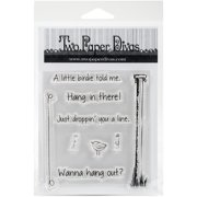 """Two Paper Divas Clear Stamps 7""""X4.5""""-Wanna Hang Out"""