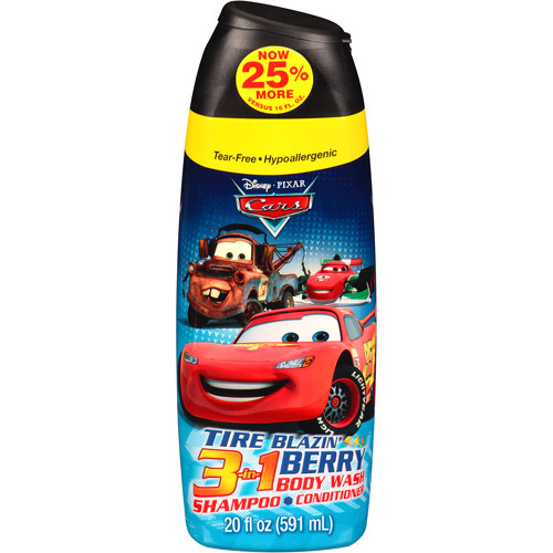 Disney Pixar Cars Tire Blazin' Berry 3 in 1 Body Wash, Shampoo & Conditioner, 20 fl oz