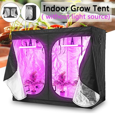 Water-Resistant Air Tight Oxford Cloth Indoor Hydroponic Greenhouse Grow Tent Plant Lighting Reflective Tent Room Box Home with Support