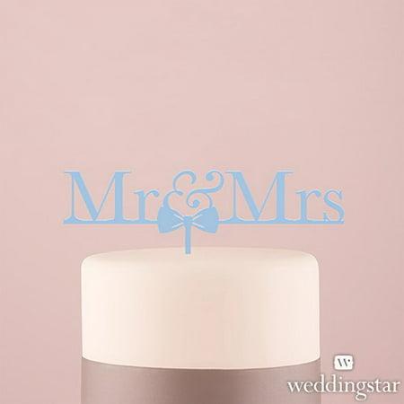 Weddingstar 4462-11 Mr & Mrs Bow Tie Acrylic Cake Topper - Pastel Blue](Bow Tie Cake)