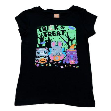 Happy Halloween Clipart Cute (Happy Halloween Girls Black Trick Or Treat T-Shirt Halloween Tee Shirt)