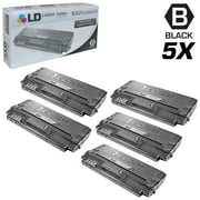 LD Compatible Replacements for Samsung ML-D1630A Set of 5 High Yield Black Laser Toner Cartridges for use in Samsung ML-1630, ML-1630W, SCX-4500, and SCX-4500W s