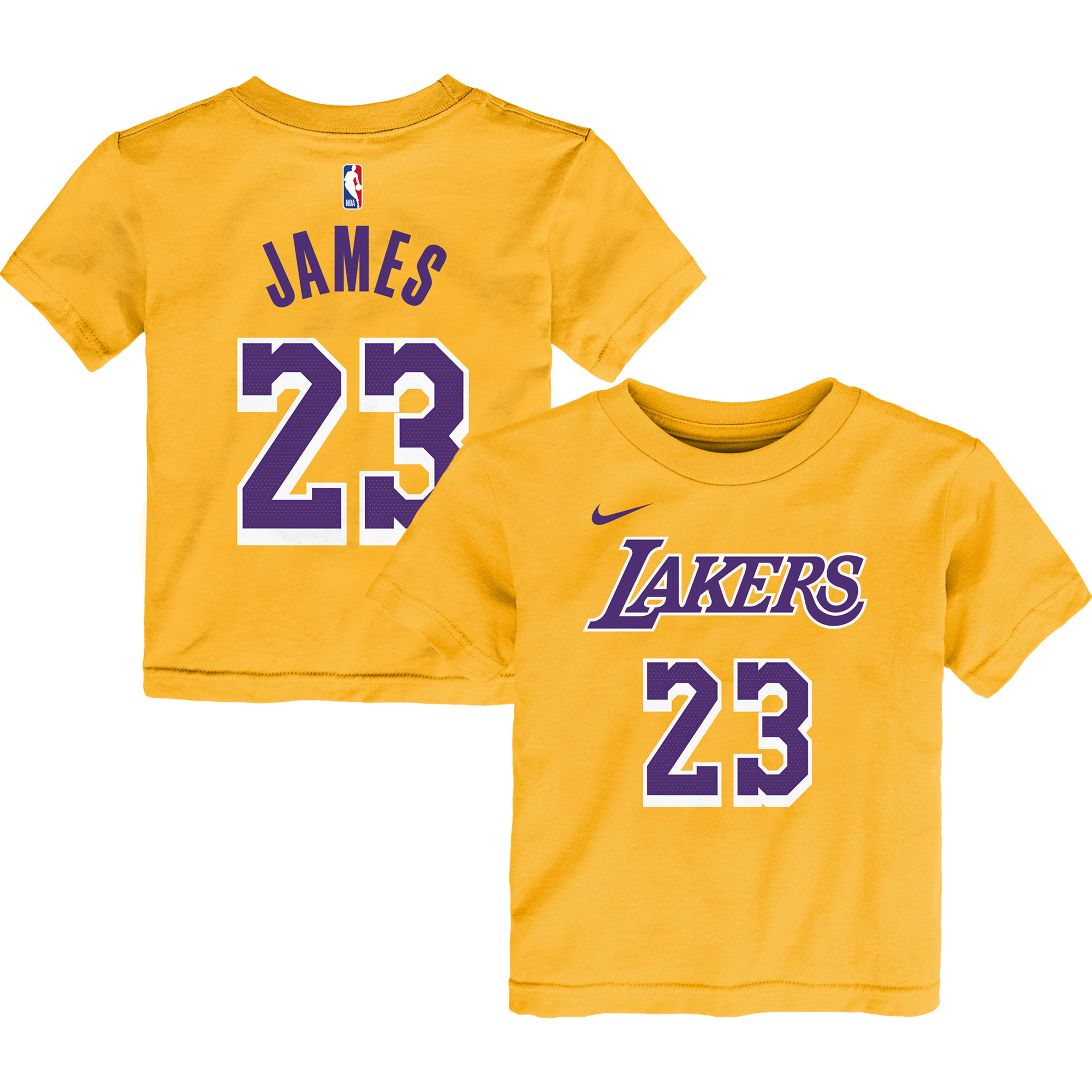 LeBron James Los Angeles Lakers Nike Preschool Name & Number T-Shirt - Gold - 7