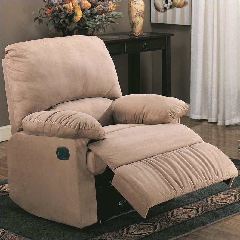 Coaster Company Microfiber Recliner, Chocolate by Coaster Company
