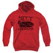 Knight Rider Kitt Happens Big Boys Pullover Hoodie